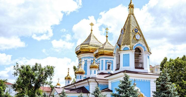 モルドバ共和国にある修道院の外観。